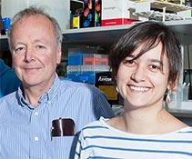 Adrian Bird and post-doc Hélène Cheval