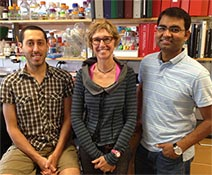 Gail Mandel with lab members Dan Lioy and Saurabh Garg