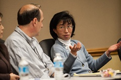 Jeannie Lee, Ph.D. at an RSRT meeting in November