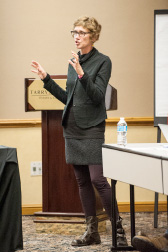Gail Mandel at a recent RSRT meeting.