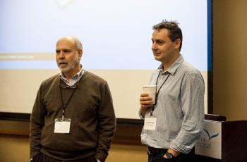 Stuart Cobb (right) with David Katz.